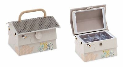 Bee Hive Design Sewing Basket Sewing Box Medium - HobbyGift - Gift