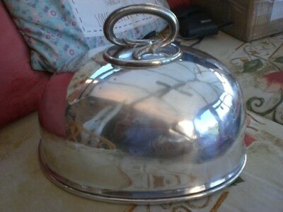 meat/ game dome silver plate small