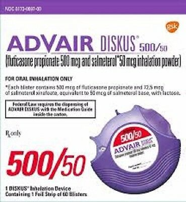 advair 500/50   GlaxoSmithKline. Product is expired.  Use at your own risk