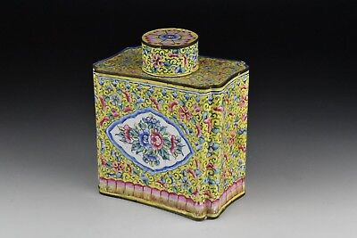 Antique 18th Century Chinese Enamel Tea Caddy