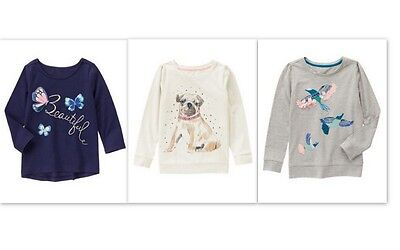 NEW Gymboree girls BUTTERFLY GARDEN long sleeve tee size 4 5 6 7 8 YOU PICK