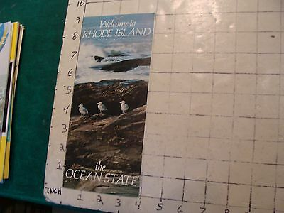 HIGH GRADE Vintage brochure: WELCOME TO RHODE ISLAND the ocean state 1975