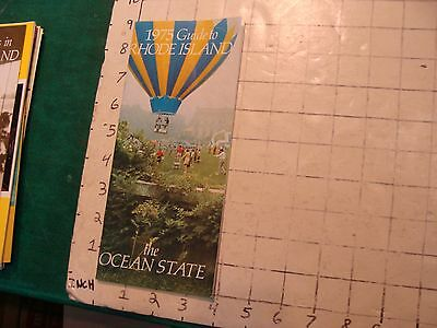HIGH GRADE Vintage brochure: GUIDE TO RHODE ISLAND the ocean state 1975, 48pgs