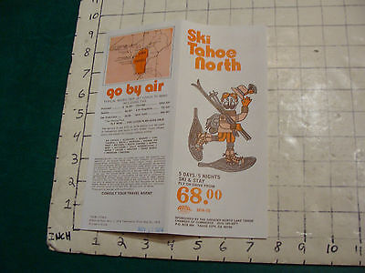 Vintage High Grade SKI brochure: SKI TAHOE NORTH 1974