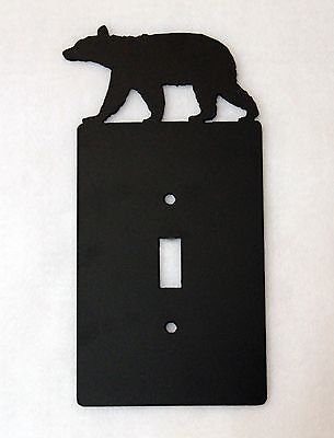 BEAR Single Light Switch Plate Cover Wildlife Rustic Cabin Lodge Metal Art