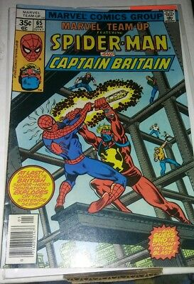 Marvel Team-Up #65 (Jan 1978, Marvel) 1st appearance of Captain Britain Key Book