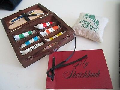 American Girl SAMANTHA Summer Amusements COMPLETE Paints Sketchbook Pillow Org.