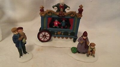 Department 56 The Old Puppeteer Set of 3 Heritage Village Collection 5802-5