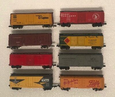 N Scale Model Train Freight Cars Lot Of 8 Trix, Atlas, ConCor