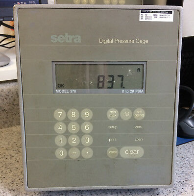 Setra 370 digital barometer altimeter and pressure display