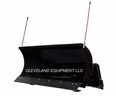 """NEW 84"""" PREMIER SNOW PLOW ATTACHMENT Skid Steer Loader Hydraulic Angle Blade 7'"""