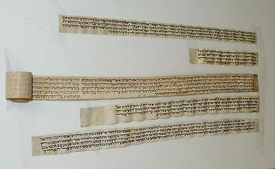 Judaica  Antique Tefilin  / Very  Old Tefillin / parchment From Morocco.