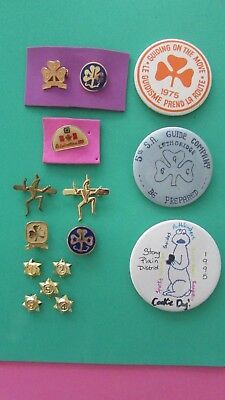 Collection of Girl Guide Pins and Buttons