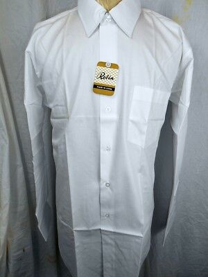 Vintage 1960s White Cotton Dress Shirt New/Old Stock - Never Worn 16 1/2 Large