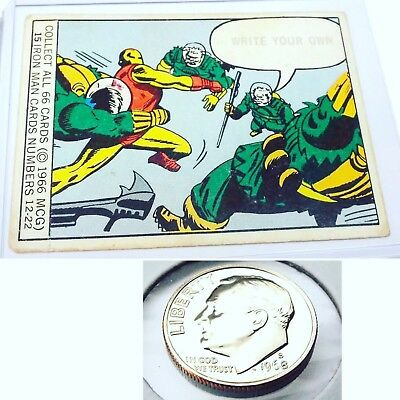 🔥1966 Marvel Super Heroes Iron Man Card 15 & 1968 S 10C Pf Ultra Cameo Coin!