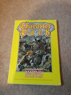 CHARACTER PACK Warhammer Fantasy Role Play1988 supplement softback