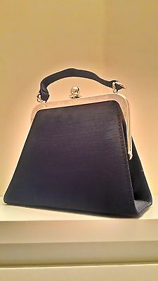 Vintage, Retro-looking 1980s Women's Small Purse /Evening Bag with Satin Surface