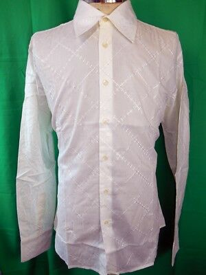 Vintage Cream Cotton Phillips Melbourne Dress Shirt New/Old Stock Never Worn L