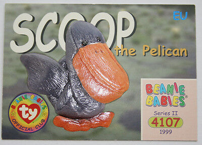 TY Beanie Card II 1999 4107 Scoop Pelican