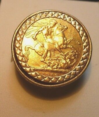 22ct ( 1912 Great Britain George V Full  Sovereign ) And 9CT Filigree Coin Holde