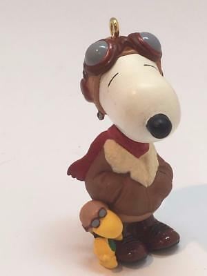 """Hard to Find """"SNOOPY THE RED BARON & WOODSTOCK"""" Christmas Ornament"""