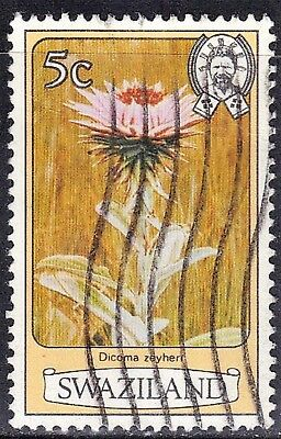 ROSS1374: SWAZILAND   SC#  350 **USED** 5c 1980   FLOWERS