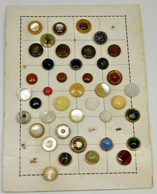 40 Antique VICTORIAN WAISTCOAT Vest Buttons MOP, AGATE MOONGLOW CELLULOID MORE