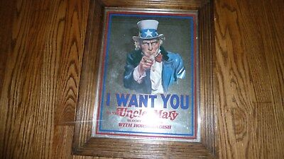 Uncle Sam Bloody Mary Mix Beer Liquor Whiskey Mirror