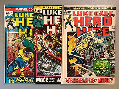 Luke Cage Hero for Hire # 2 3 4 ~ Lot of 3 ~ 1st Claire Temple & 1st Mace