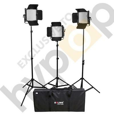 Boling 3x 2220P LED Video & Photography Continuous Portable Lighting Kit (11,400
