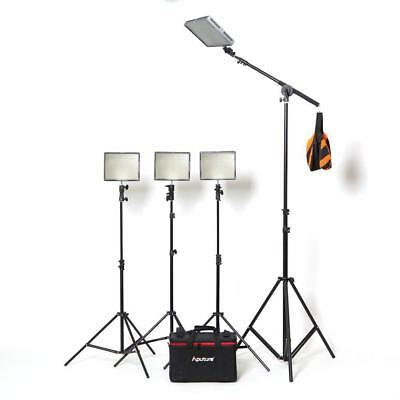 Aputure 4x HR672W LED Video Continuous Portable Lighting Kit and Boom (From 7680