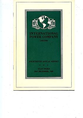 Old annual report INTERNATIONAL POWER COMPANY limited 1939