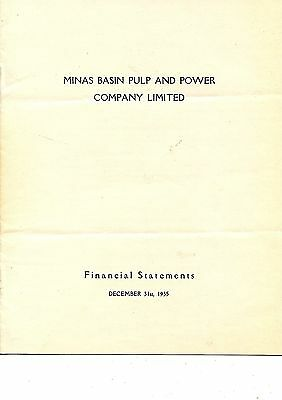 Old annual report Minas Basin Pulp and Power Co. Ltd.  1935