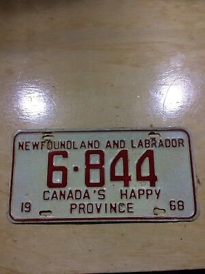 1968 newfoundland license plate