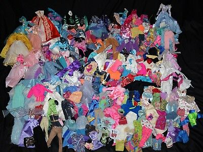 HUGE LARGE 320+ Lot Of Barbie and other 11 1/2 Fashion Doll Clothes Clothing