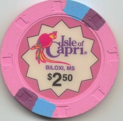 Isle of Capri Casino - $2.50 Chip - Snapper - Biloxi Mississippi