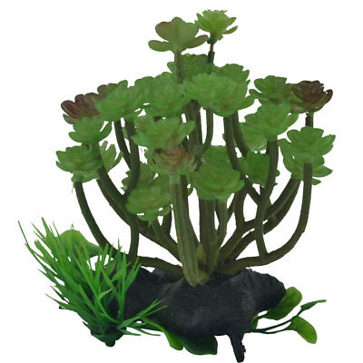 Aquarium Fish Tank Plastic Emulation Water Plant Grass Decor Ornament Green