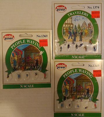 New N scale Assorted People lot 3 packages
