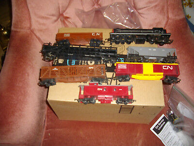 tri-ang c n alco engine @6 freight cars oo/ho scale