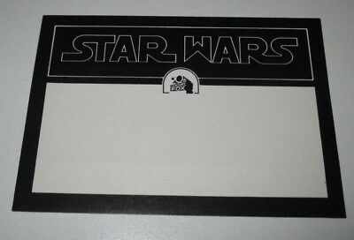 Star Wars Original  Authentic MAILING LABEL 76/77 Early SW Logo Lucasfilm PROMO