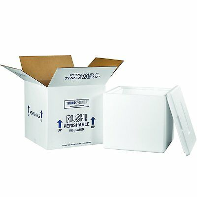 """Tape Logic TL240C Insulated Shipping Kits, 13"""" x 13"""" x 12 1/2"""", White"""