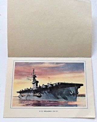 Color Print Card U.S.S. Holland is CVE 97