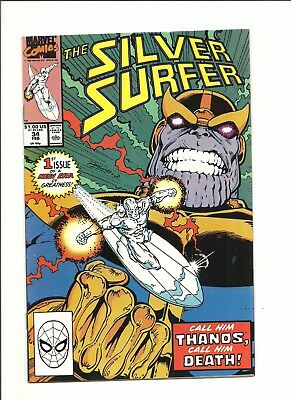 Silver Surfer #34 Thanos returns by Starlin 1990 very fine 8.0 $1 start!