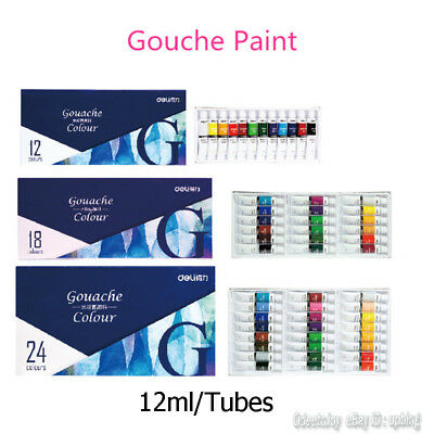 12/18/24 Colors Professional Acrylic Painting Pigment Design 12ml/Tube Paint Set