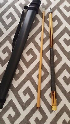 Lucasi Two Piece Pool Cue With Case