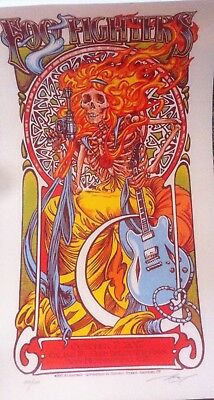 Foo Fighters Cal Jam 17 poster signed numbered AJ Masthay