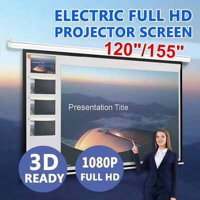 """120""""155"""" Inch Projector Screen Portable Tripod Electric Motorised Projection BG"""