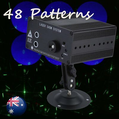 48 Patterns RGB Laser Projector Lighting Stage Light LED Party DJ Disco Dynamic