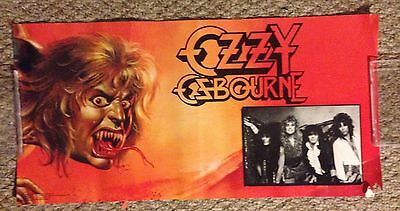 Ozzy Osbourne The Ultimate Sin album poster Vinatge RARE promo 1986 12 by 24