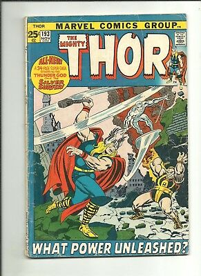 Thor #193 Silver Surfer guest-stars 48-page giant 1971 $1 start!